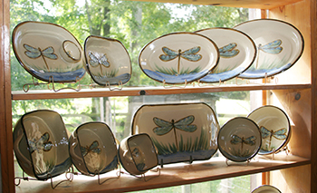 Dragonfly Dishes & Janet Resnik Pottery