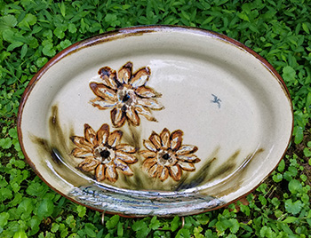 Sunflower Oval Platter